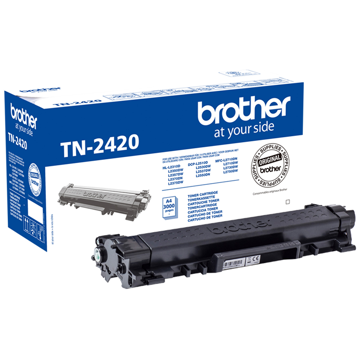 Brother TN2420 Black Toner 3000 Page Yield