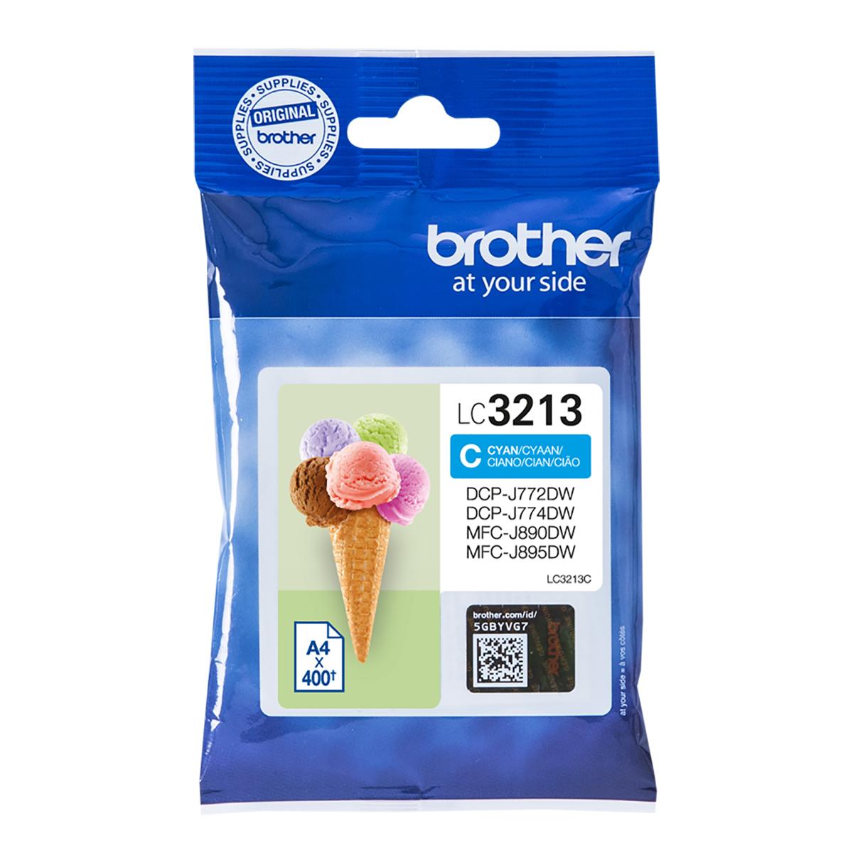 Brother LC3213C High Yield Cyan Ink Cartridge