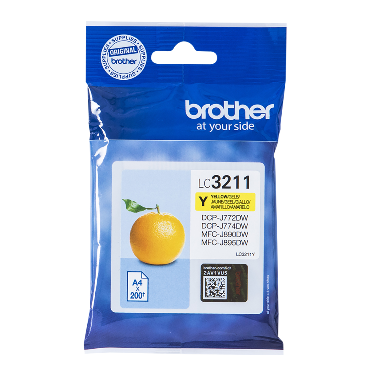 Brother LC3211Y Standard Yield Yellow Ink Cartridge