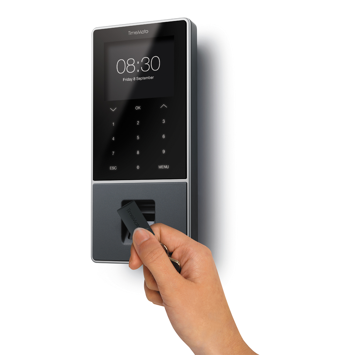 Safescan TimeMoto TM-828 RFID and Fingerprint Time Management and Attendance System with Software