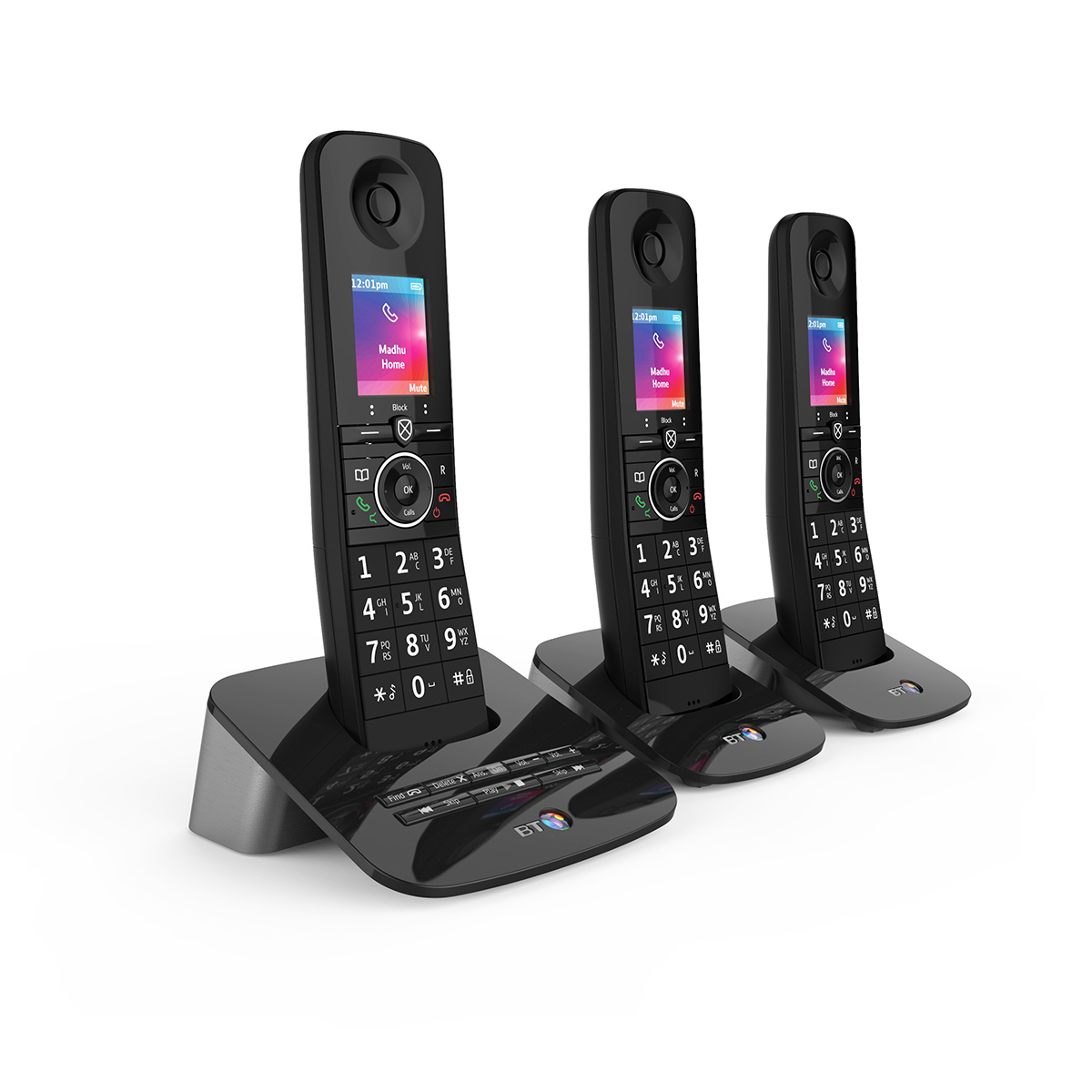 BT Premium Trio Dect Call Blocker Telephone with Answer Machine