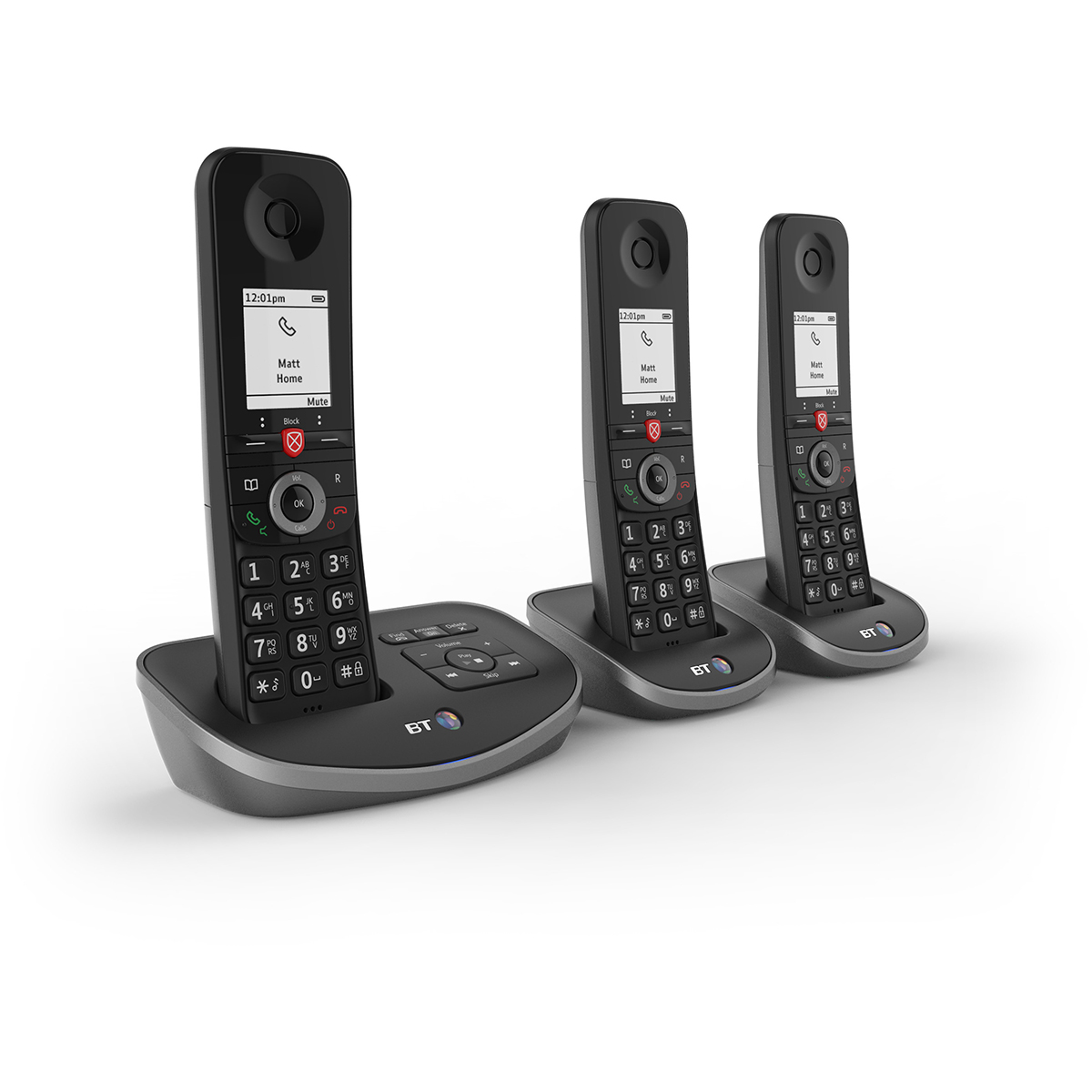 BT Advanced Trio Dect Call Blocker Telephone with Answer Machine