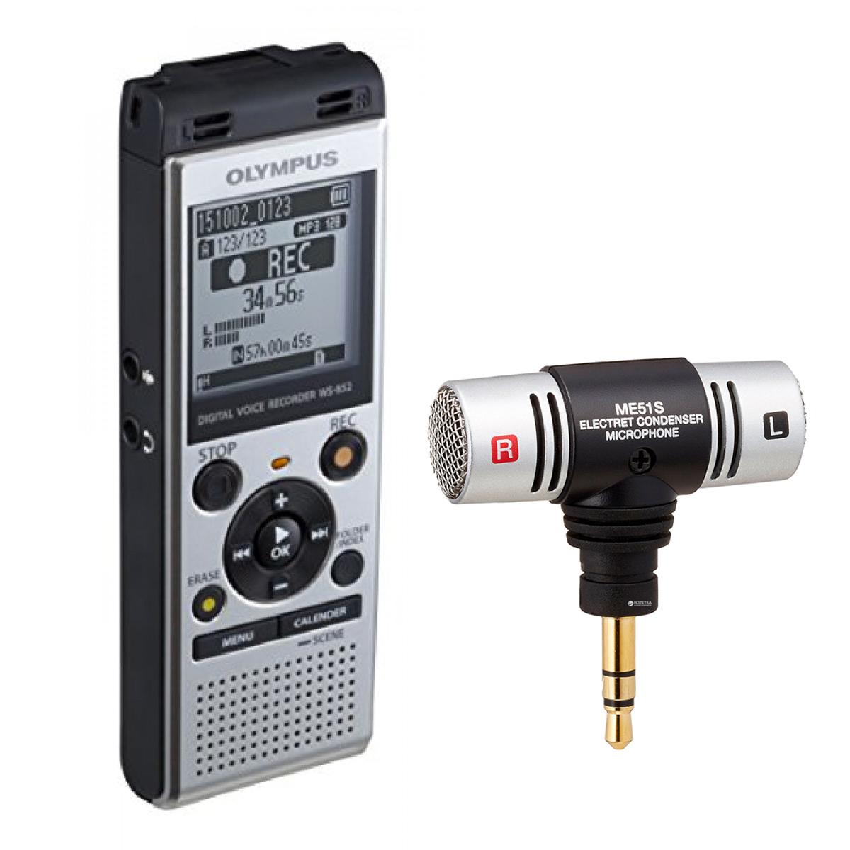 Olympus WS-852 4GB Digital Notetaker with ME51 Microphone