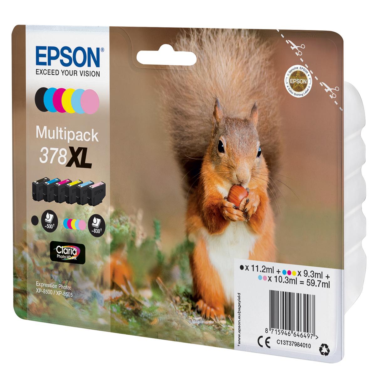 Epson 378XL Multipack 6 Ink Photo HD Cartridges