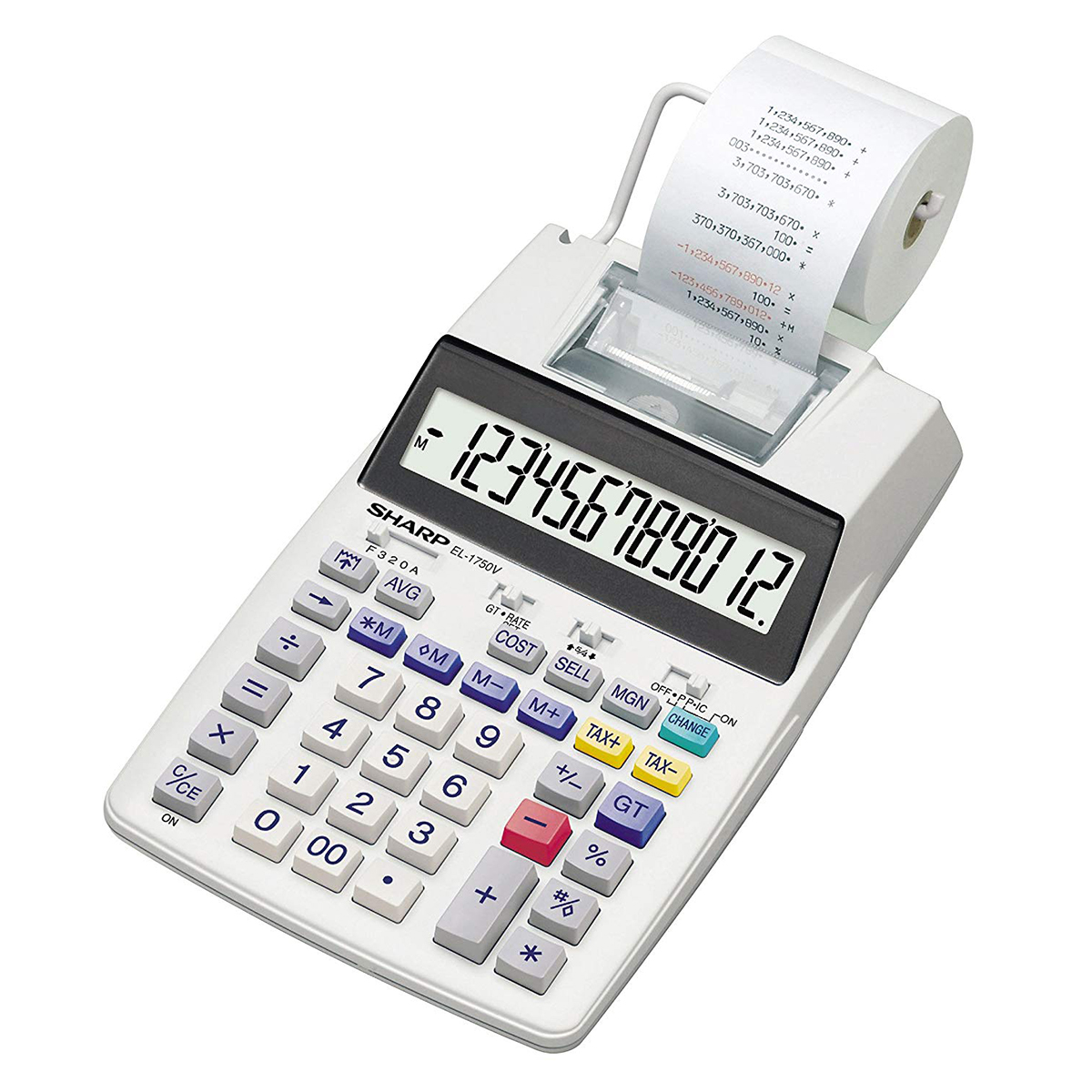 Sharp SH-EL1750V Print and Display Calculator