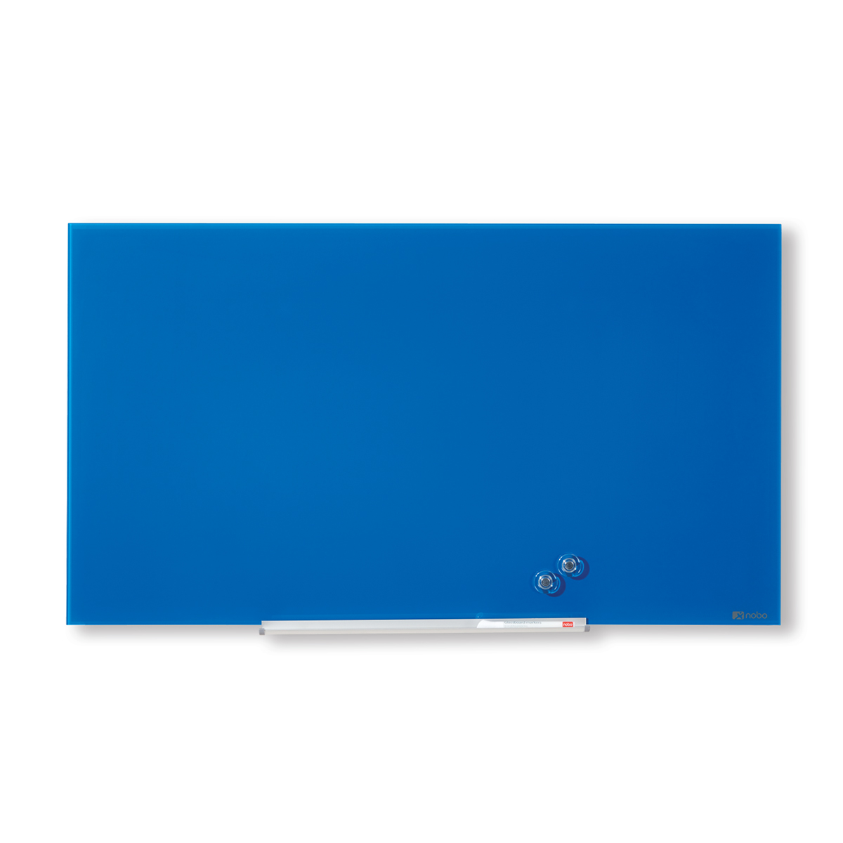 Nobo 1905187 Blue Diamond Glass Whiteboard 667 x 381mm