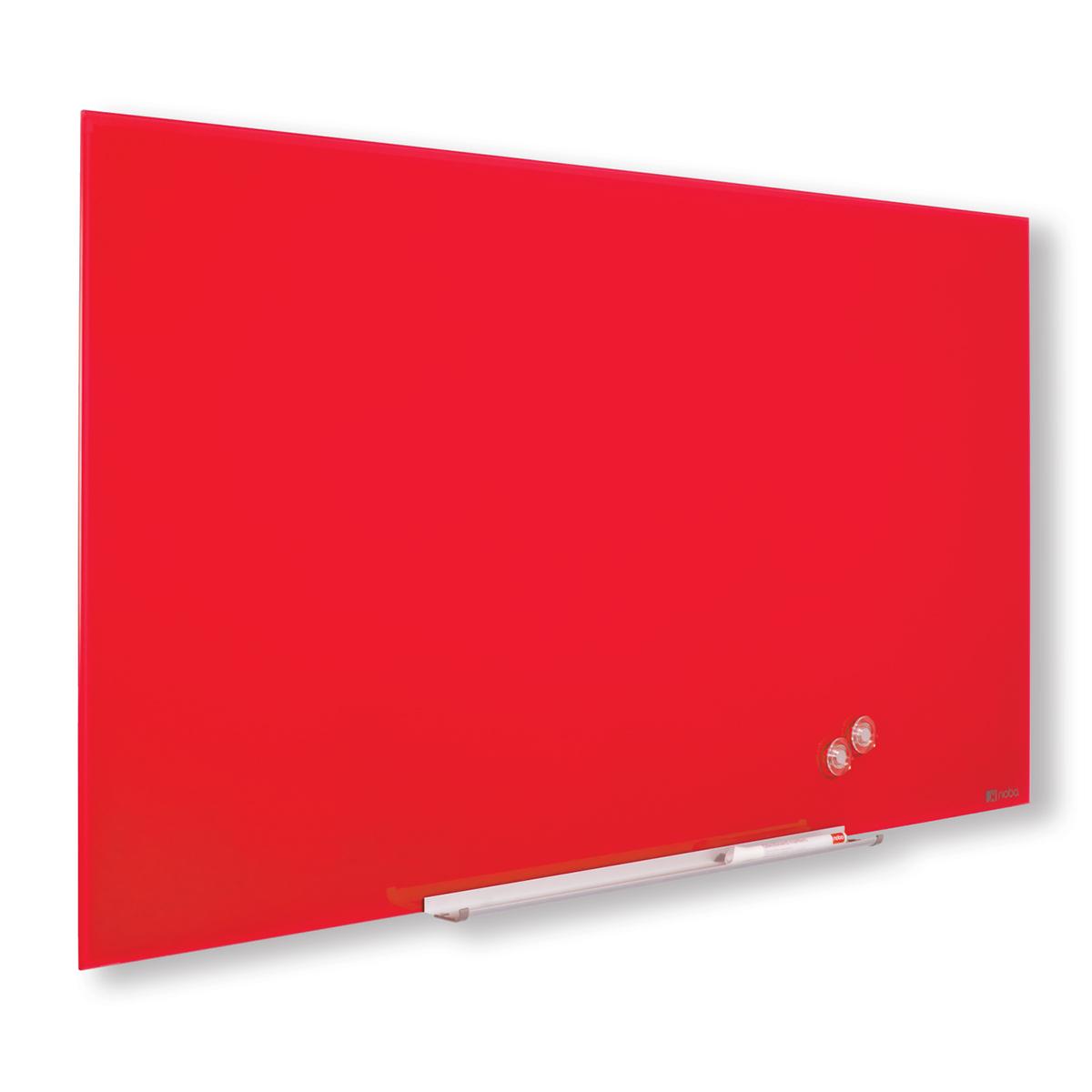 Nobo 1905186 Red Diamond Glass Whiteboard 1883 x 1059mm