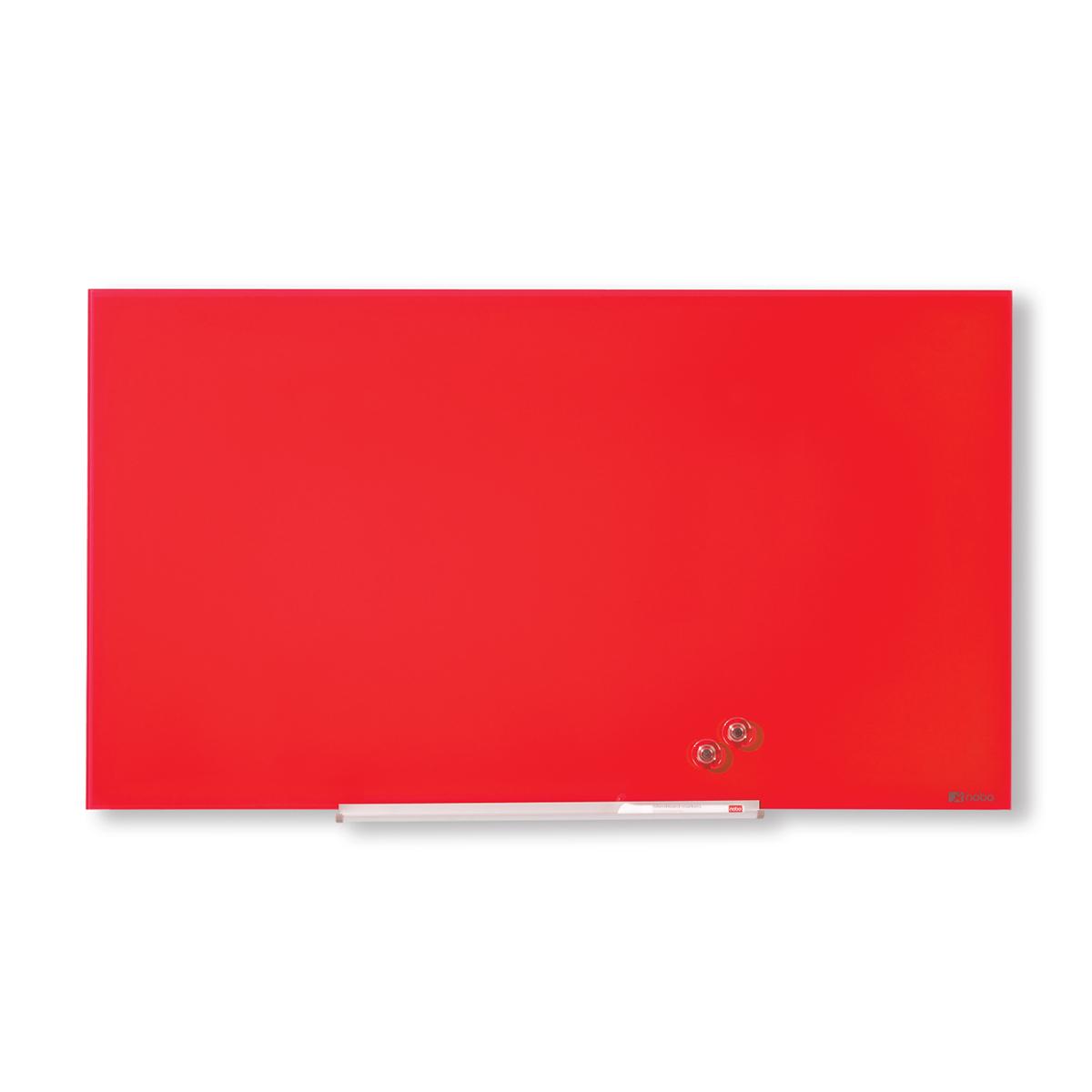 Nobo 1905185 Red Diamond Glass Whiteboard 1264 x 711mm