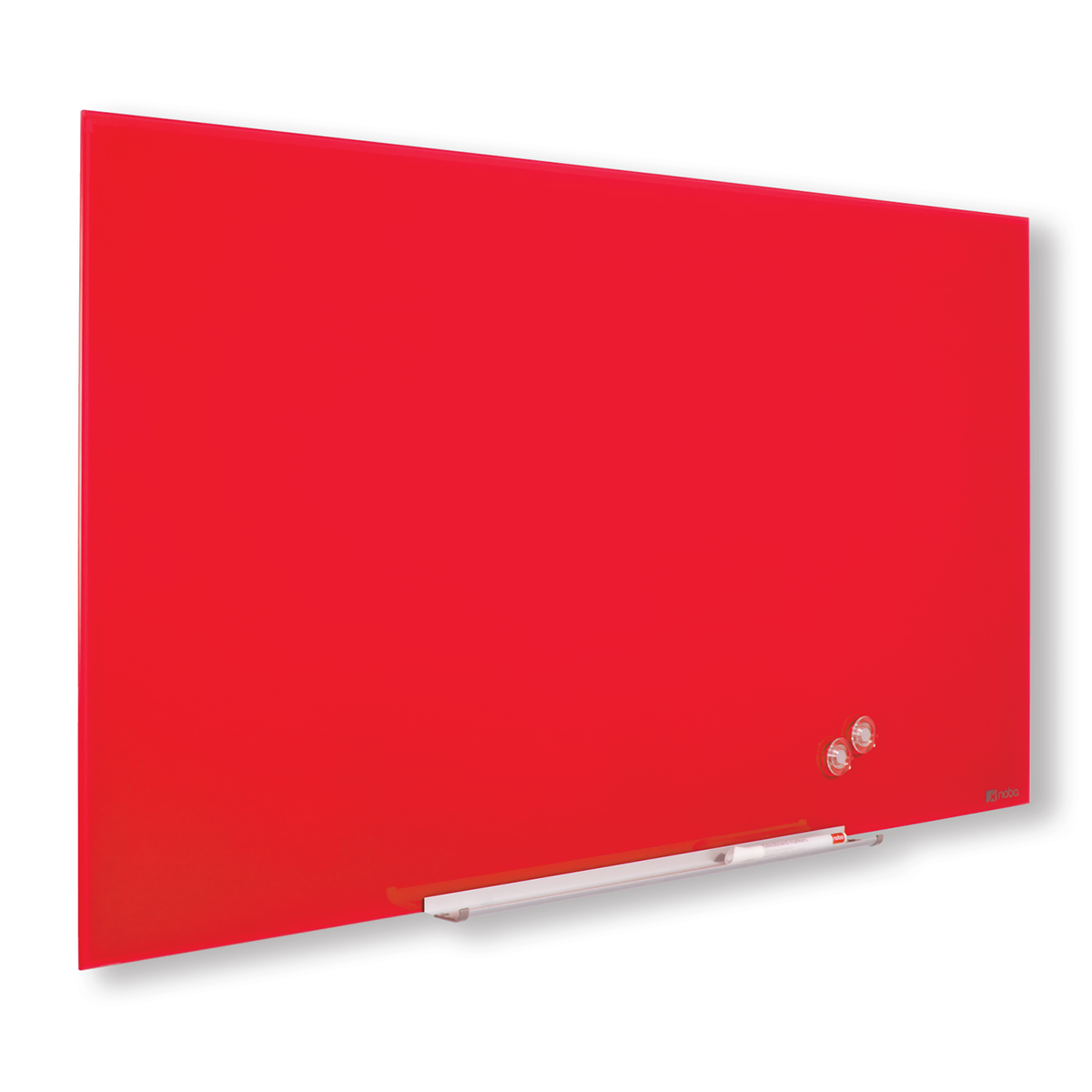 Nobo 1905184 Red Diamond Glass Whiteboard 993 x 559mm