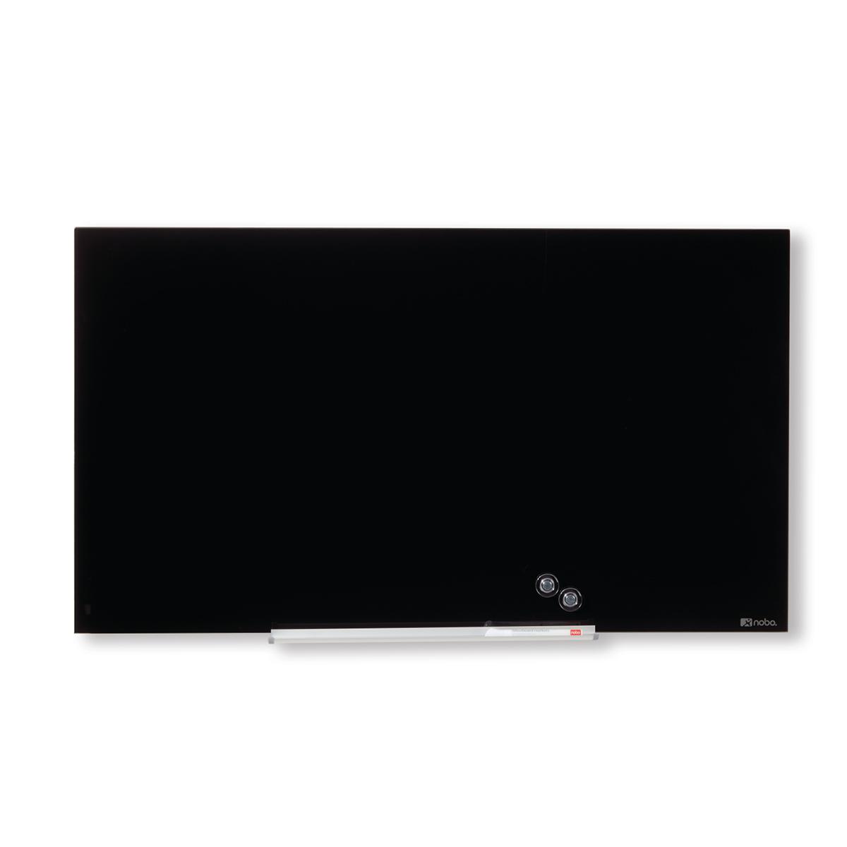 Nobo 1905179 Black Diamond Glass Whiteboard 667 x 381mm