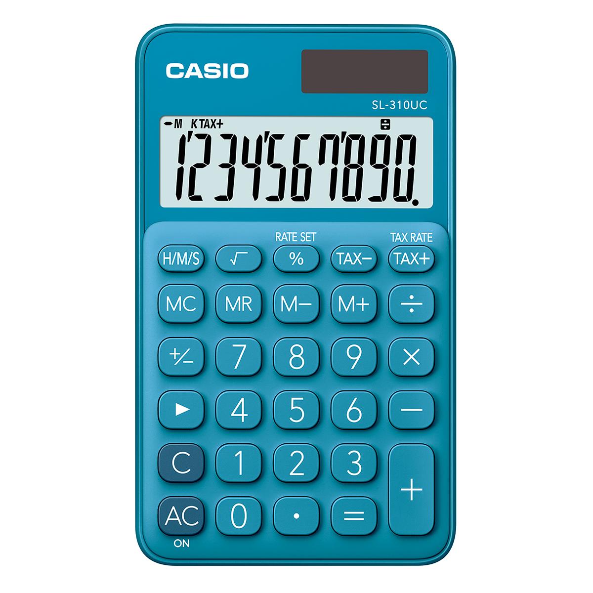 Casio SL-310UC Handheld Calculator Blue