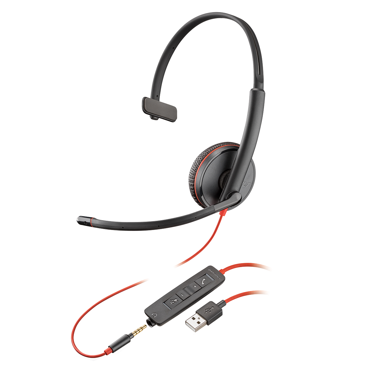 Plantronics Blackwire C3215 USB-A Monaural Headset