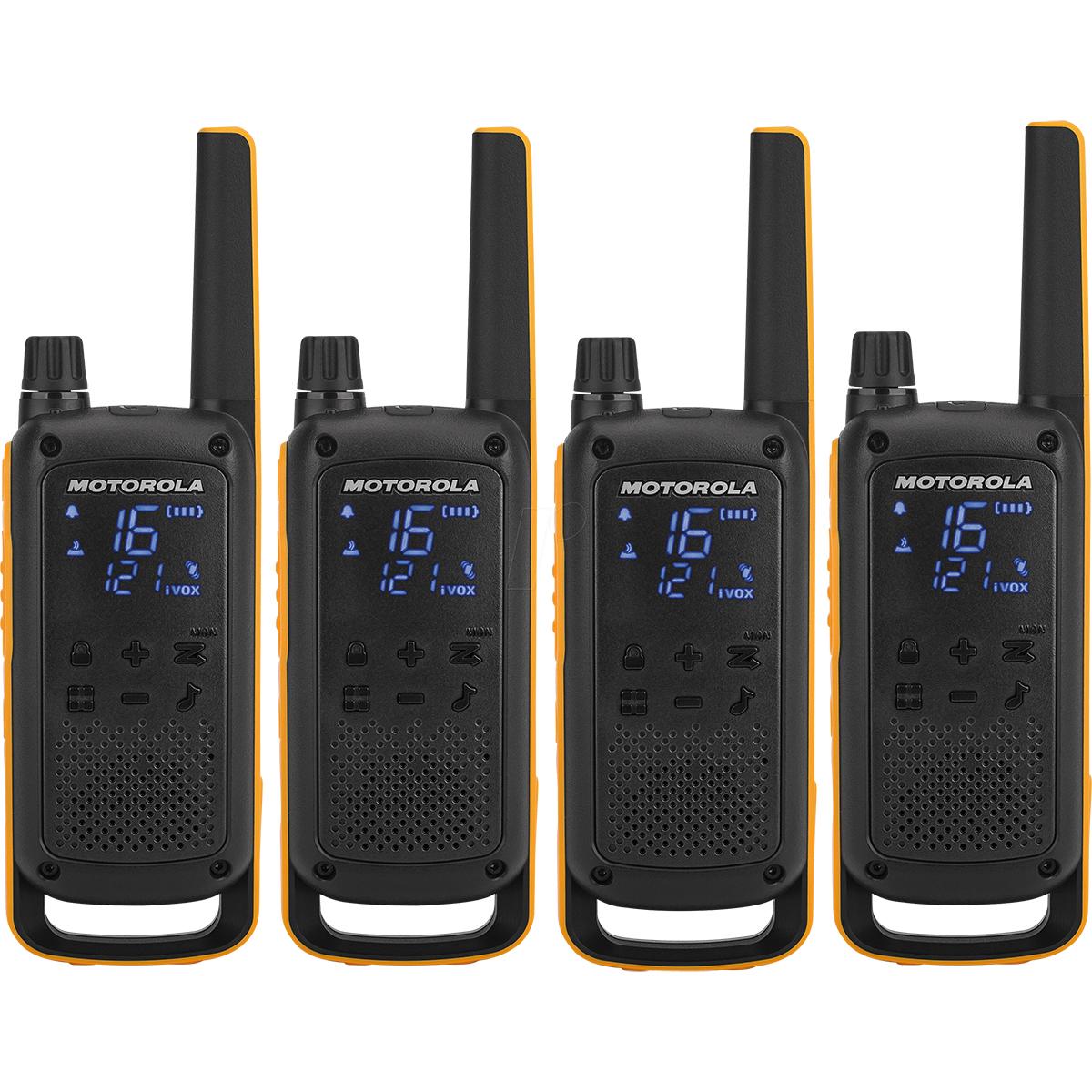 Motorola TLKR T82 Extreme Walkie Talkie QUAD Pack