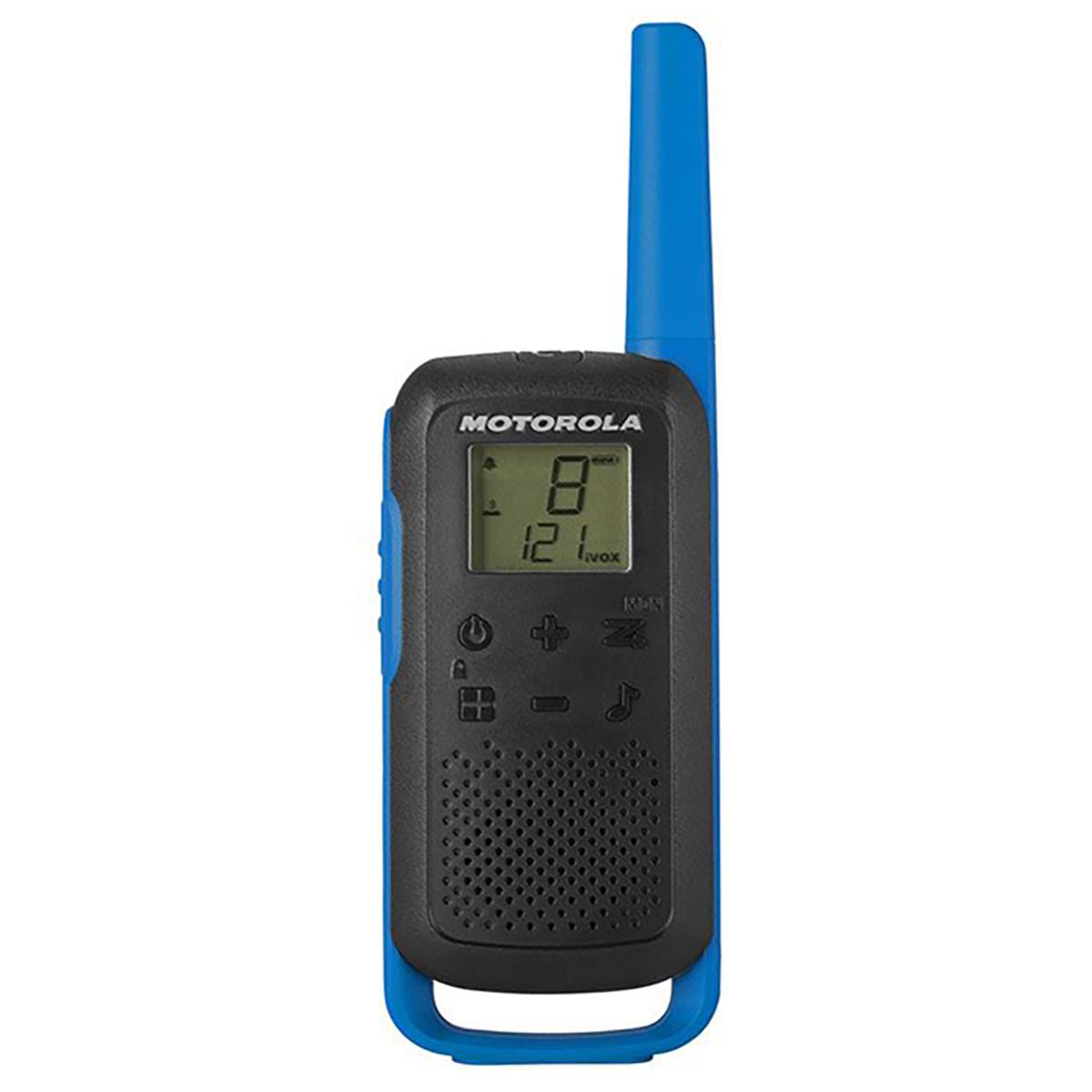 Motorola TLKR T62 Walkie-Talkie Radios TWIN Pack Blue