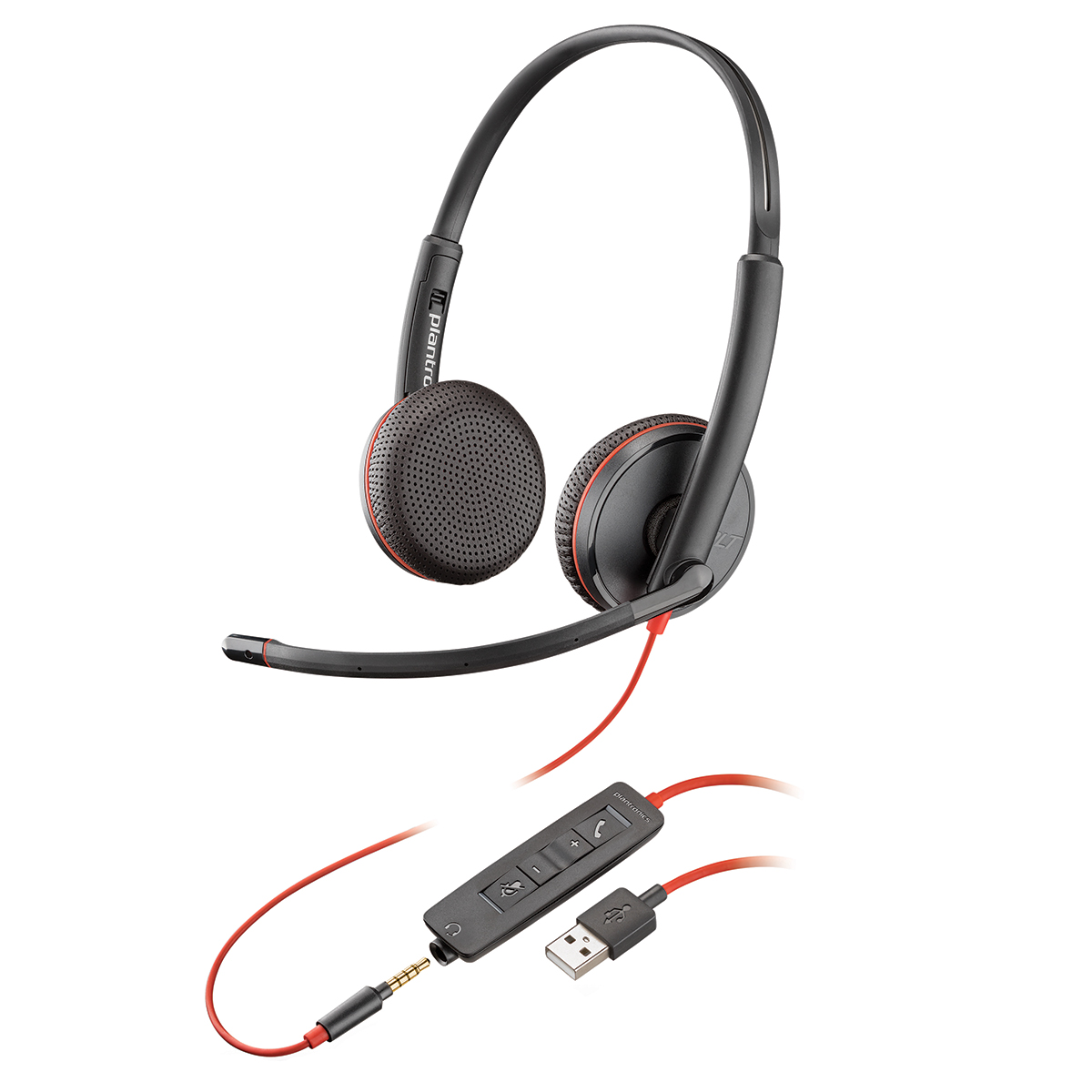 Plantronics Blackwire C3225 USB-A Stereo Headset NC