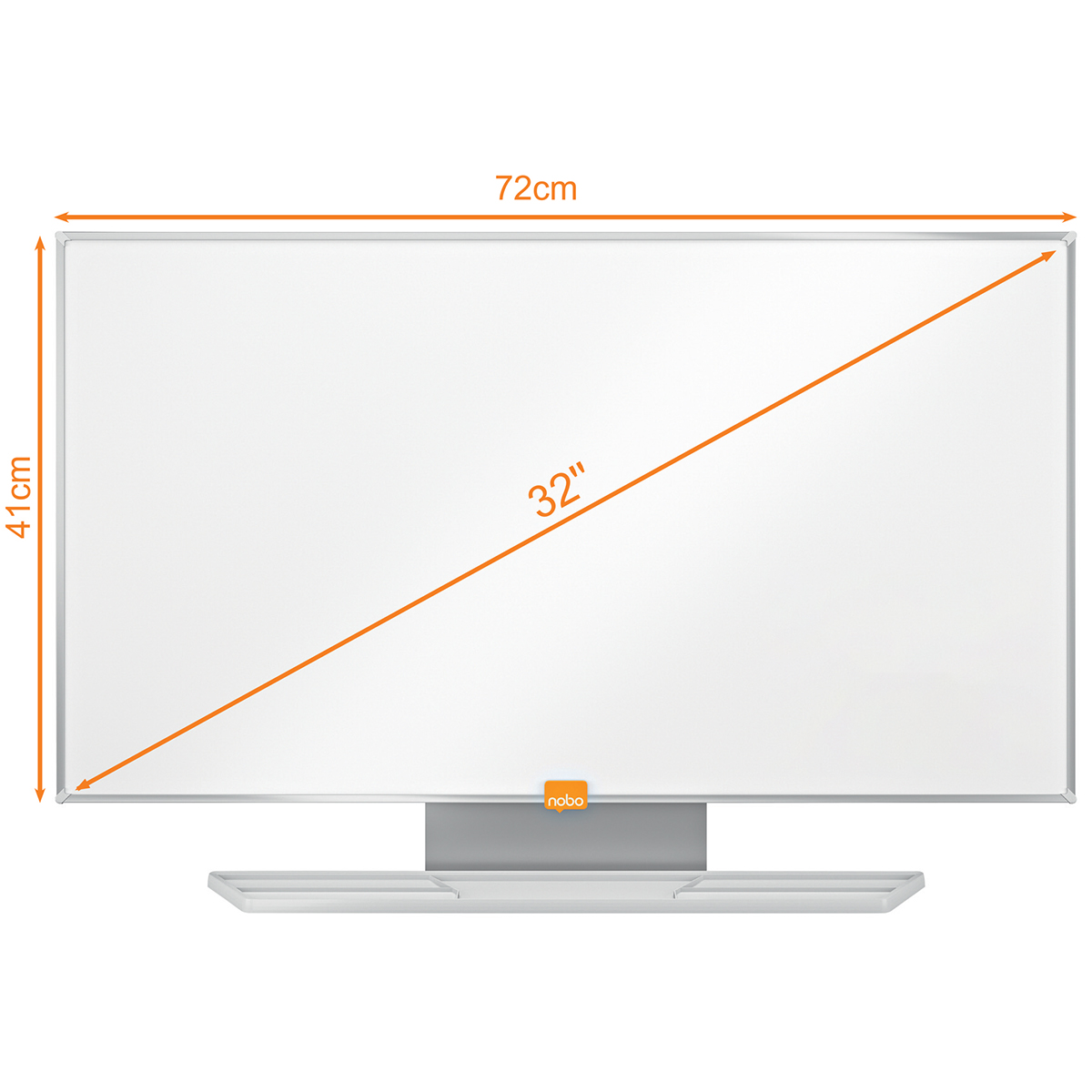 Nobo 1905296 32 Inch Widescreen Nano Clean Whiteboard