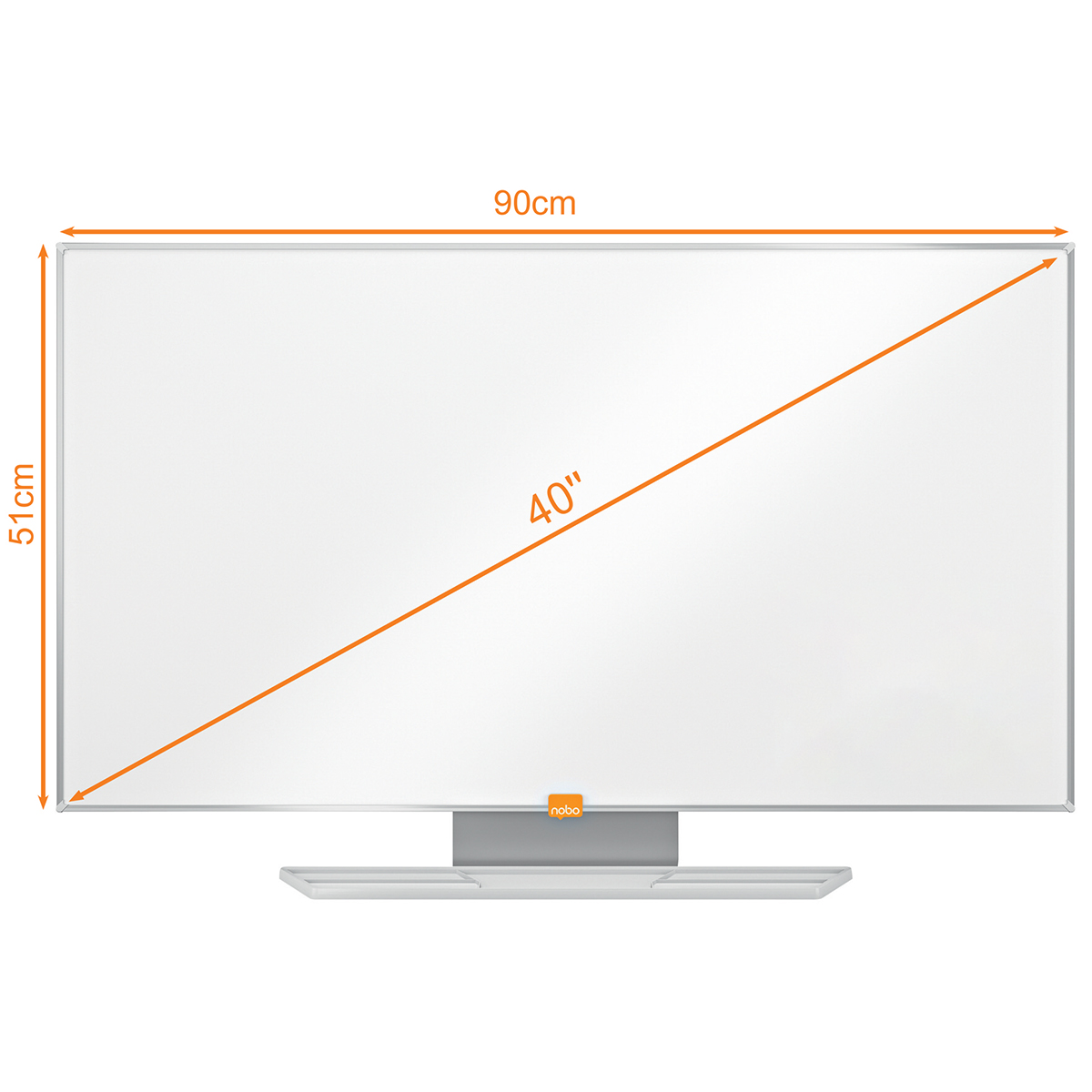 Nobo 1905297 40 Inch Widescreen Nano Clean Whiteboard