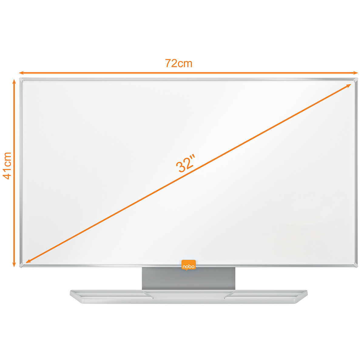Nobo 1905301 32 Inch Widescreen Enamel Whiteboard