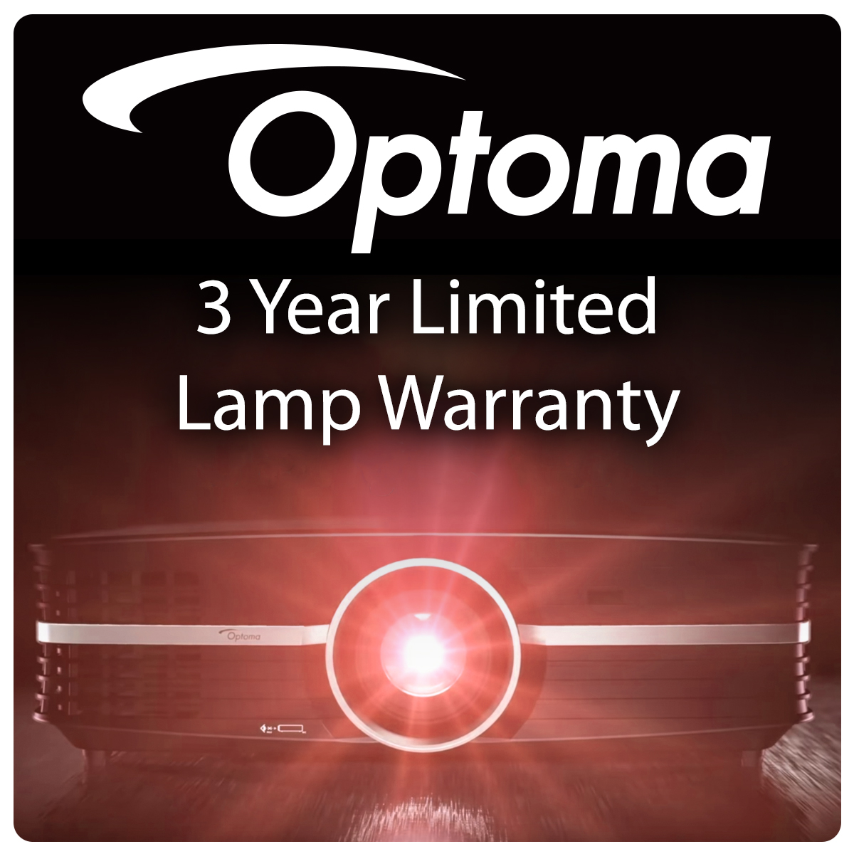 Optoma 3 Year Limited Lamp Warranty