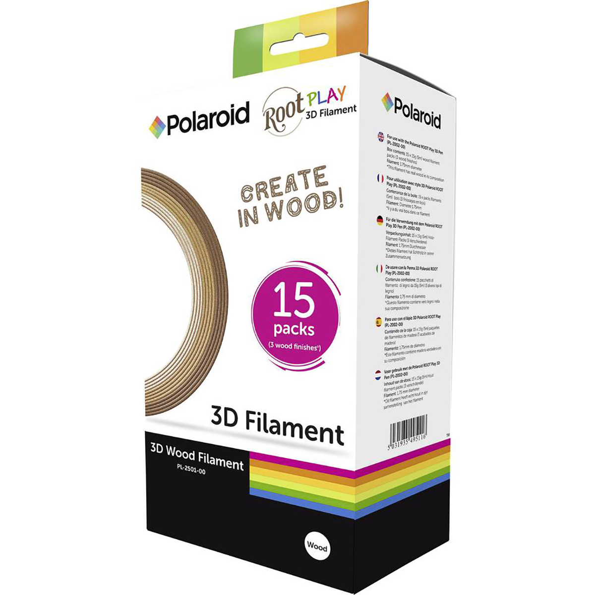 Polaroid 3D Root Pen Filament - Box of 15