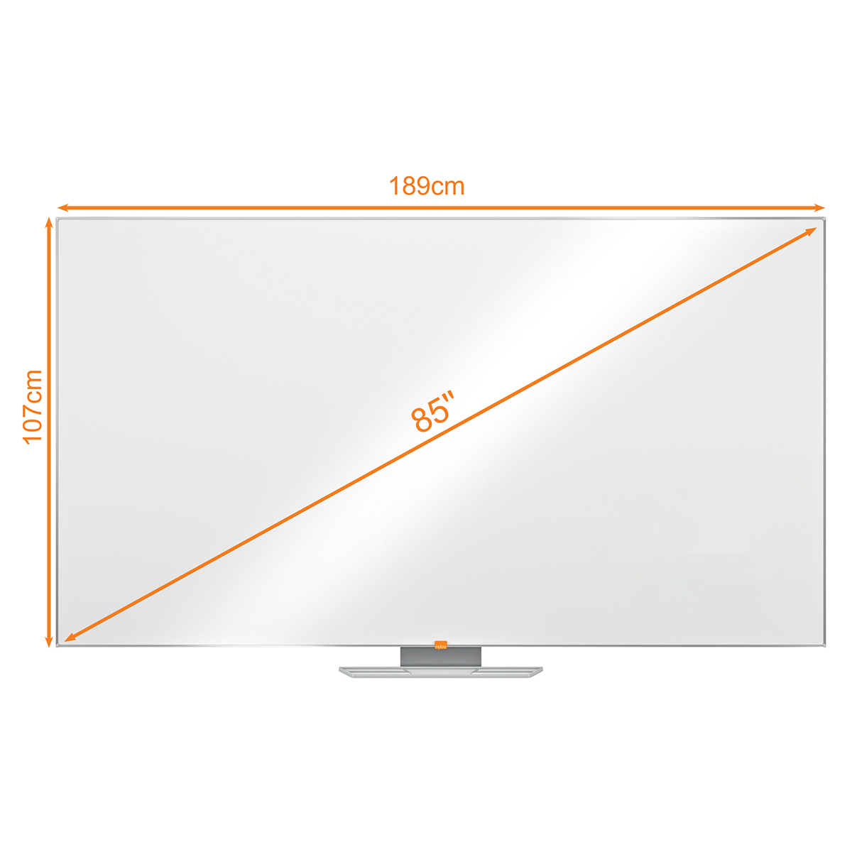 Nobo 1905295 85 Inch Widescreen Melamine Whiteboard
