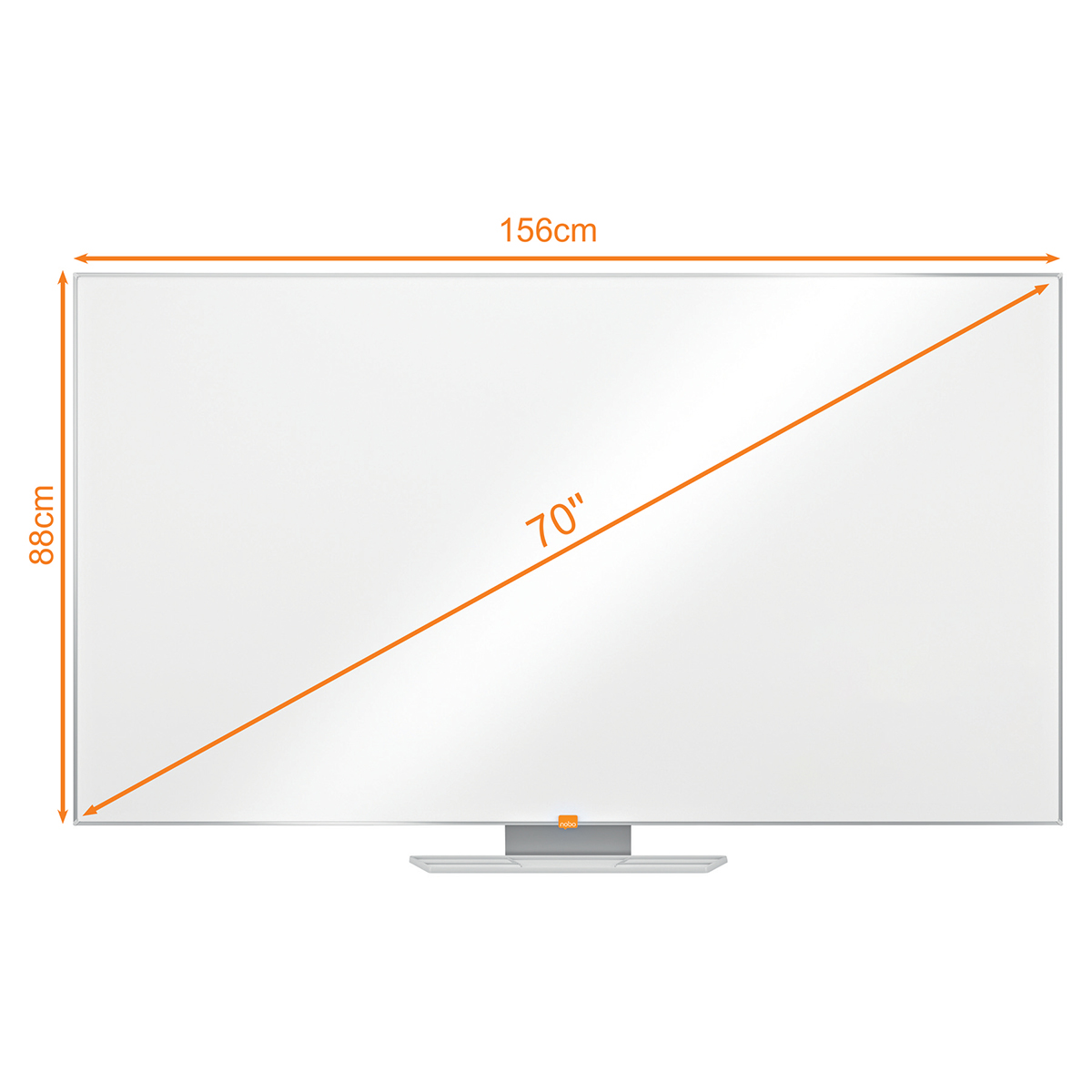 Nobo 1905299 70 Inch Widescreen Nano Clean Whiteboard