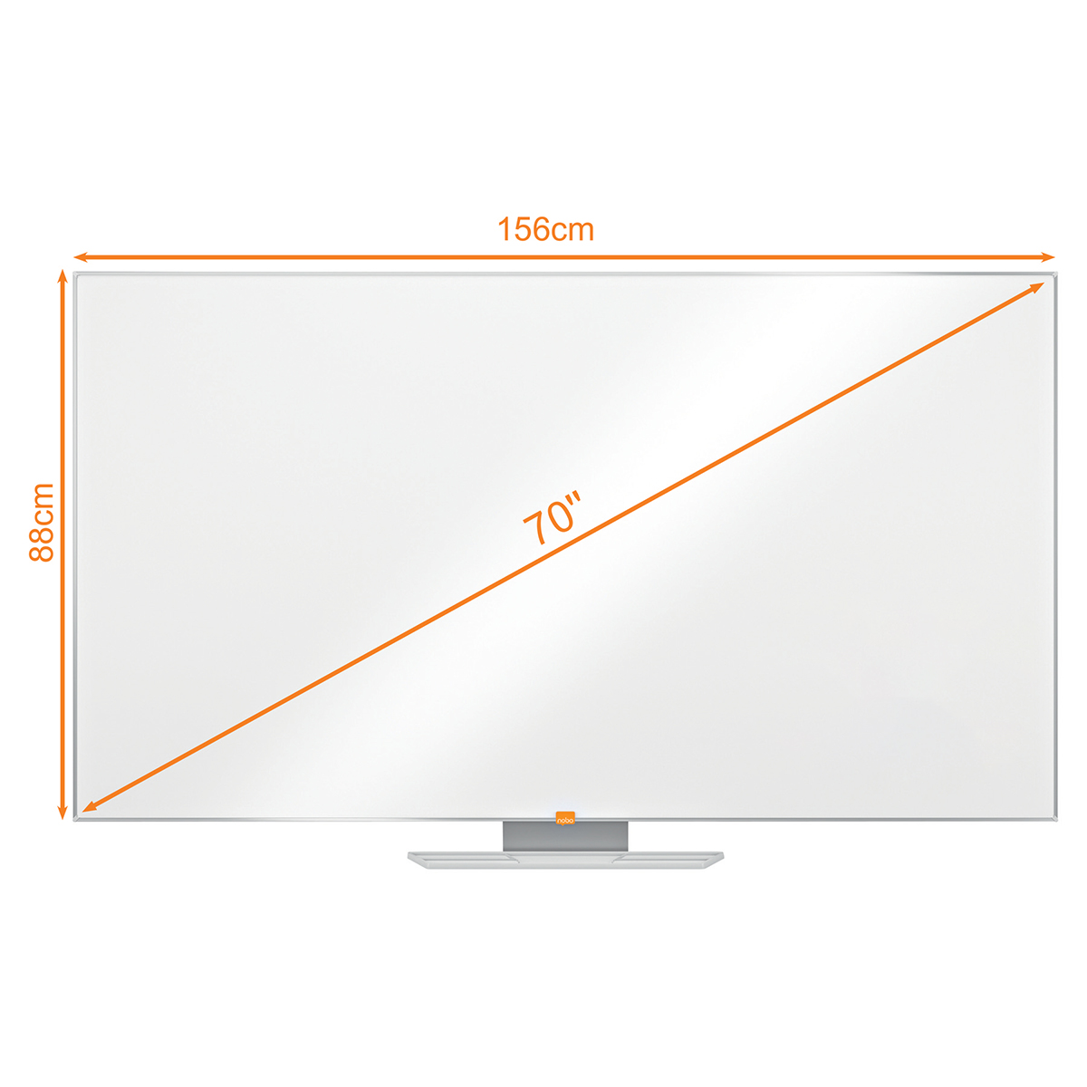 Nobo 1905304 70 Inch Widescreen Enamel Whiteboard