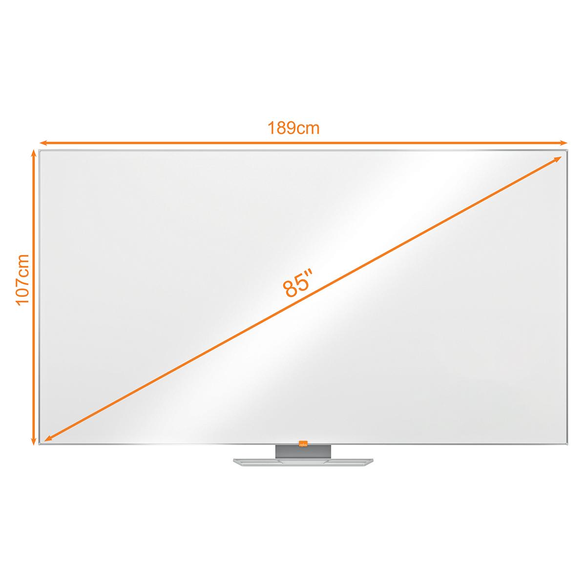 Nobo 1905305 85 Inch Widescreen Enamel Whiteboard