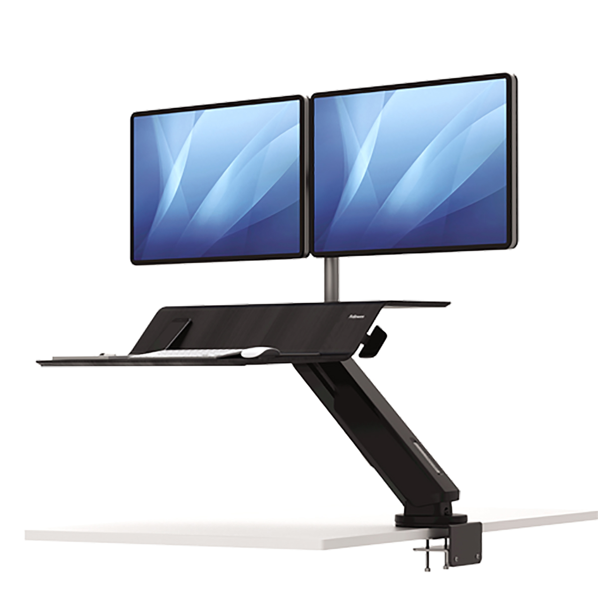 Fellowes 8081601 Lotus RT Dual Sit-Stand Workstation Black