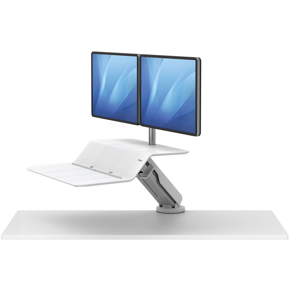 Fellowes 8081801 Lotus RT Dual Sit-Stand Workstation White