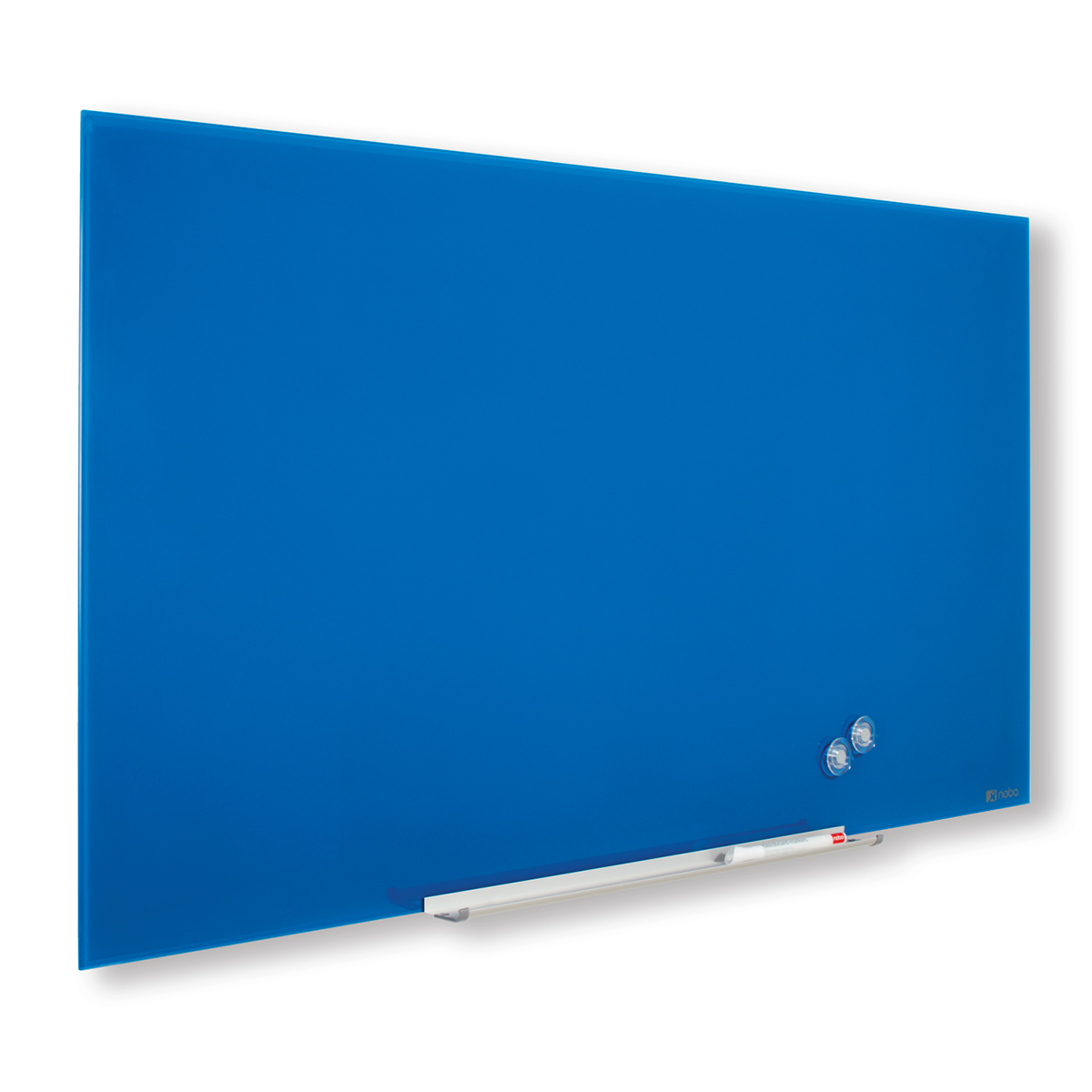Nobo 1905190 Blue Diamond Glass Whiteboard 1883 x 1059mm