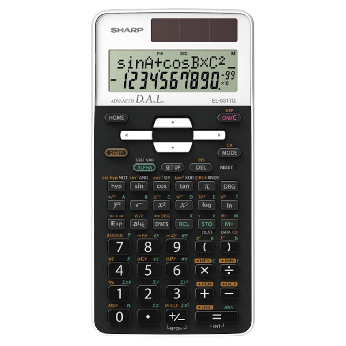 Sharp SH-EL531TH 2 Line Scientific Calculator White