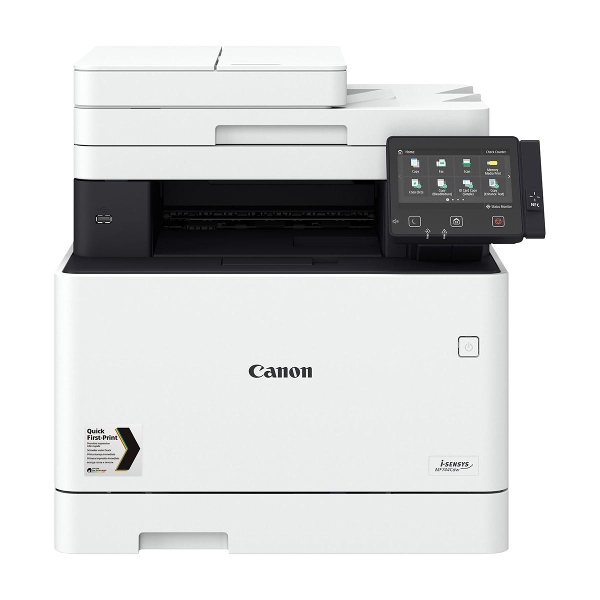 Canon i-SENSYS MF744CDW A4 Colour Laser Multifunction