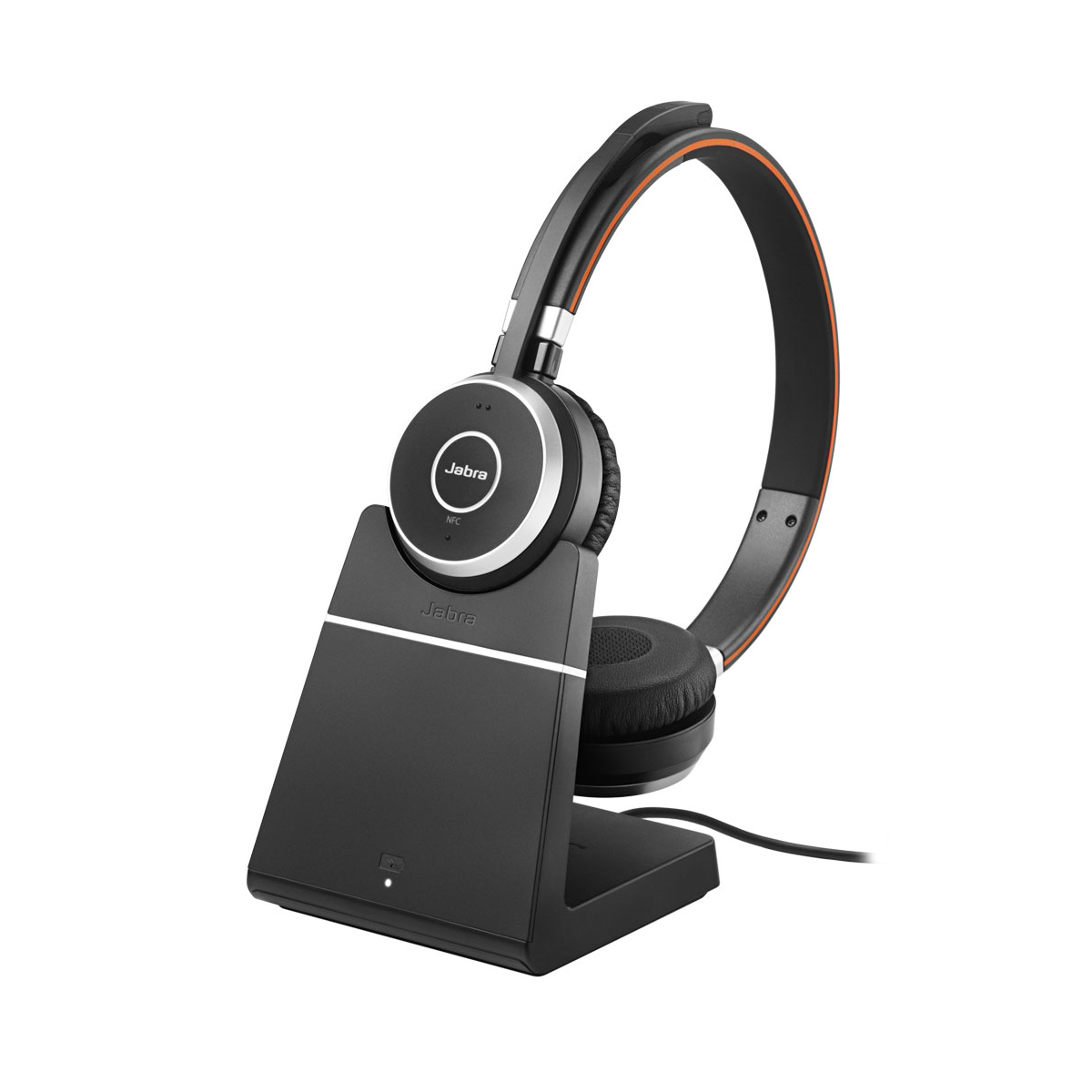 Jabra Evolve 65 MS Stereo Bluetooth Headset with Stand