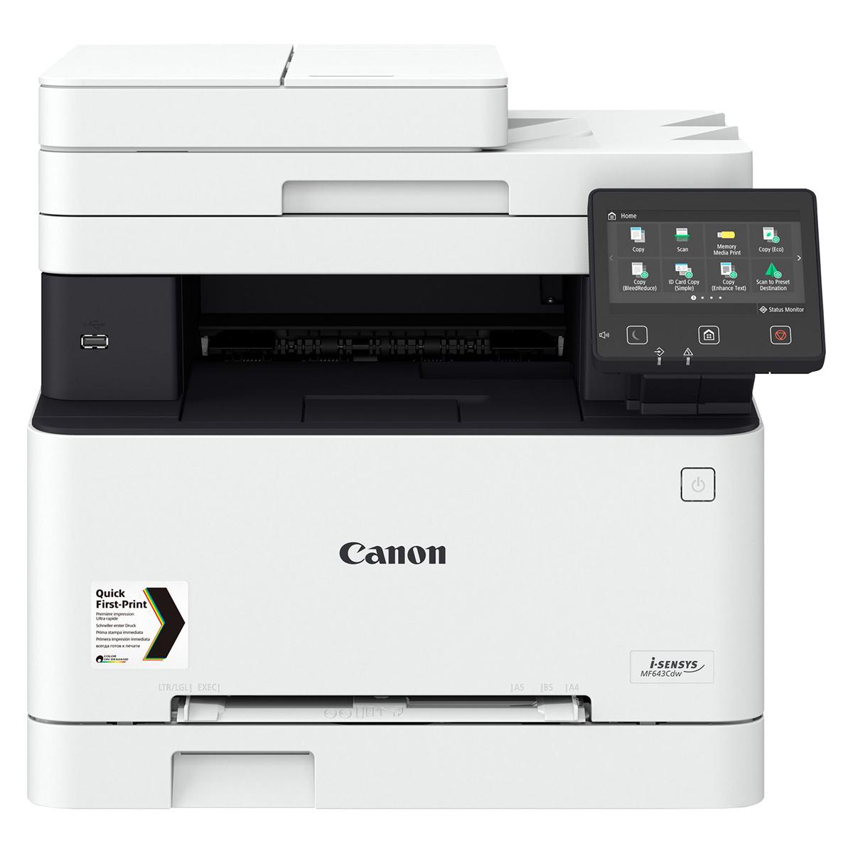 Canon i-SENSYS MF643CDW A4 Colour Laser Multifunction