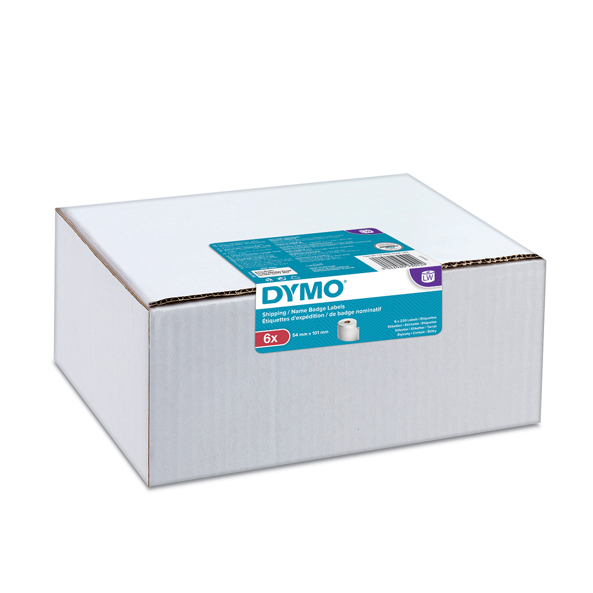 Dymo 2093092 LW Shipping Labels 54 x 101mm 6 pack