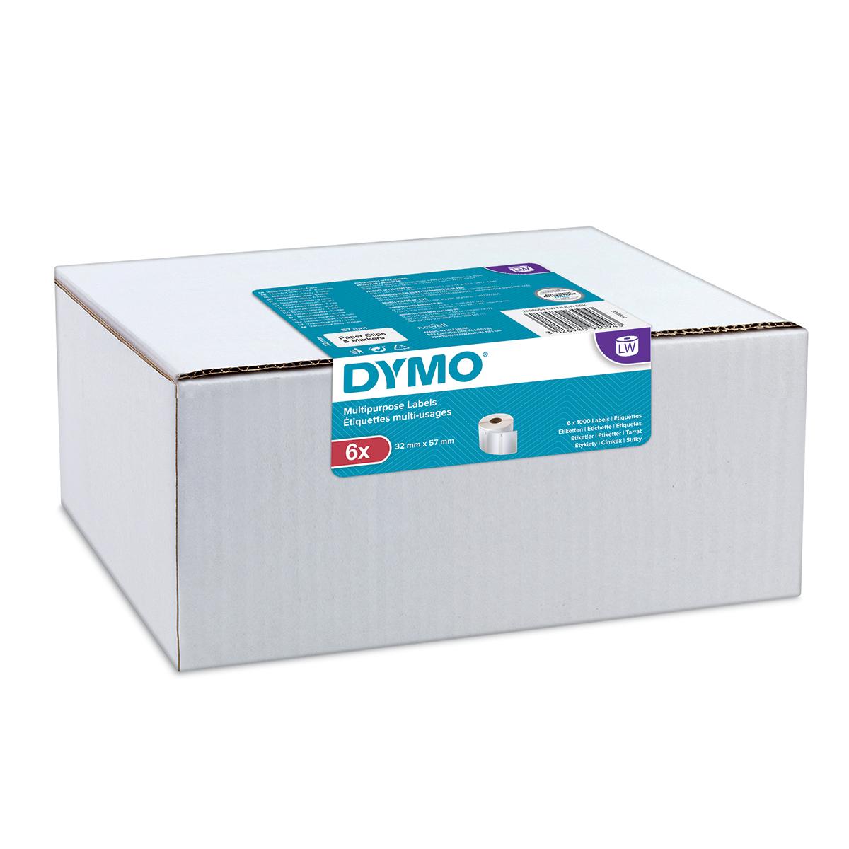 Dymo 2093094 LW Multipurpose Address Labels 32 x 57mm 6 pack