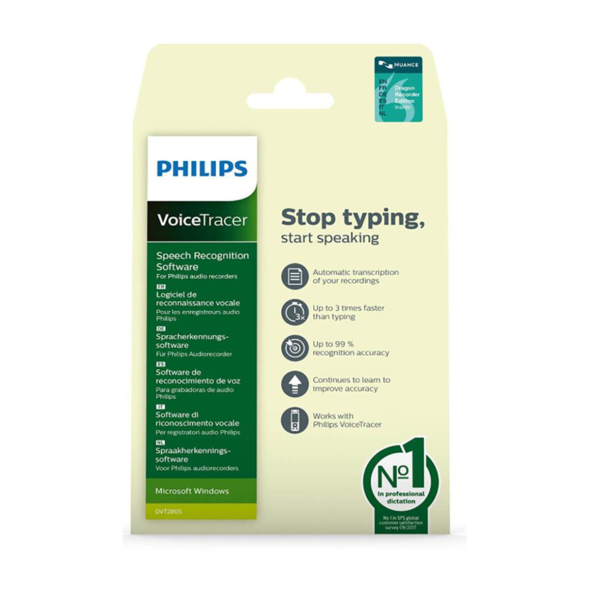 Philips DVT2805 Speech Recognition Software