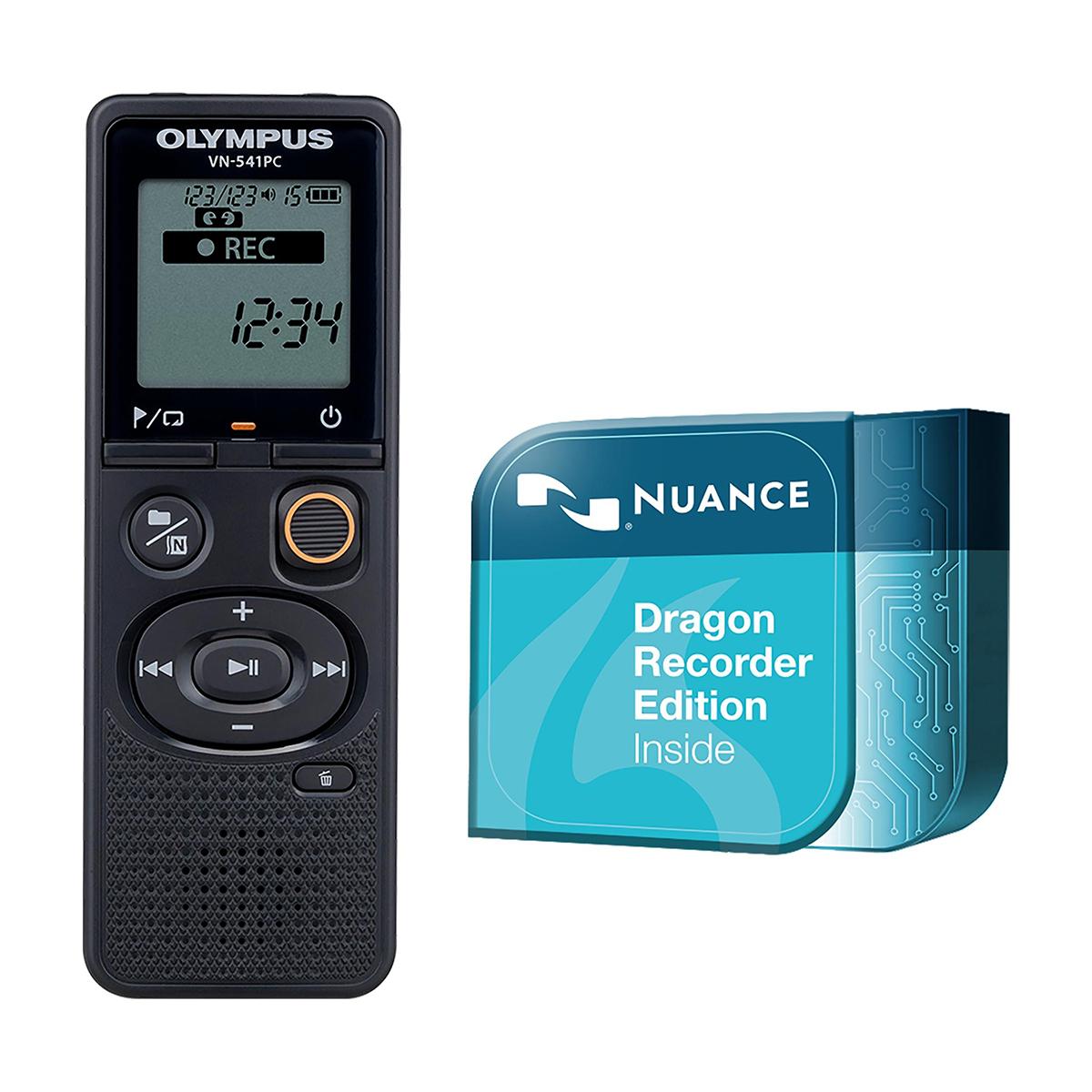 Olympus VN-541PC 4GB Digital Notetaker plus Dragon Recorder Edition Download