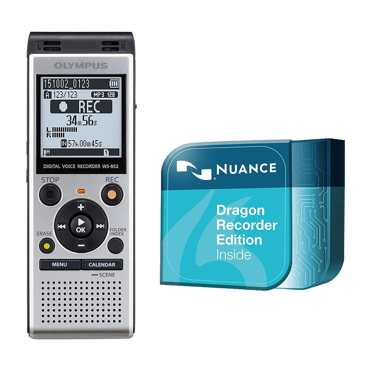 Olympus WS-852 4GB Digital Notetaker plus Dragon Recorder Edition Download