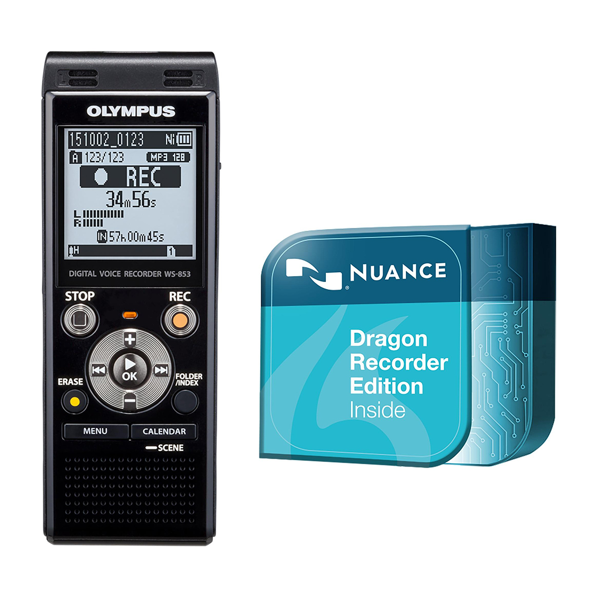 Olympus WS-853 8GB Digital Notetaker plus Dragon Recorder Edition Download