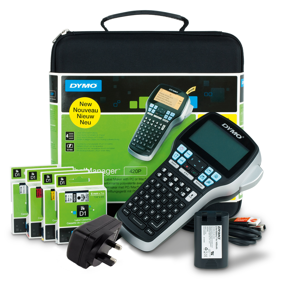 Dymo Labelmanager 420 Label Maker Kit