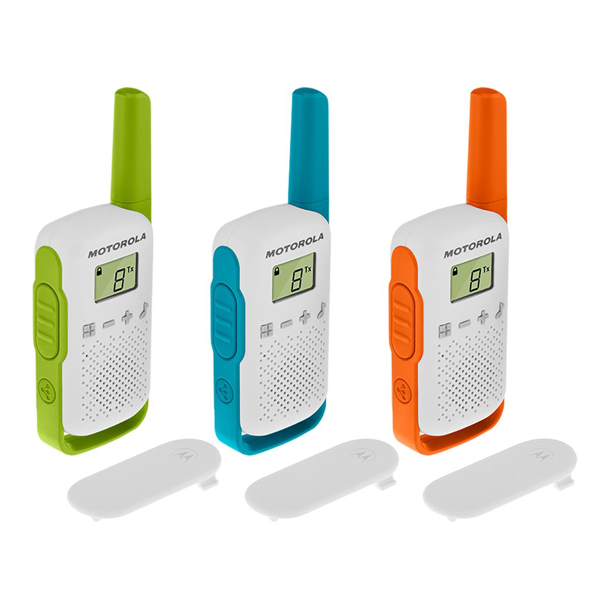 Motorola TLKR T42 Walkie Talkie Radio TRIPLE Pack