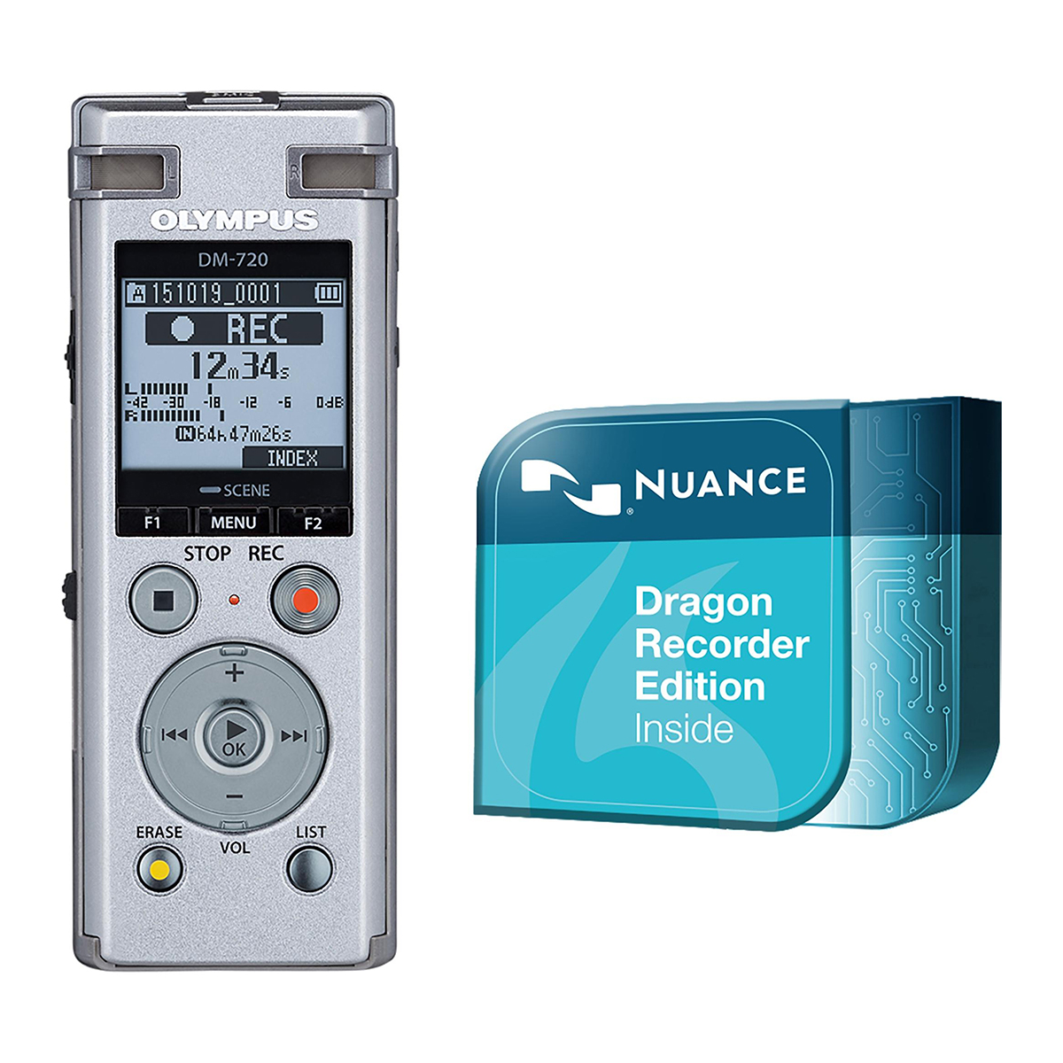 Olympus DM-720 4GB Digital Notetaker plus Dragon Recorder Edition Download