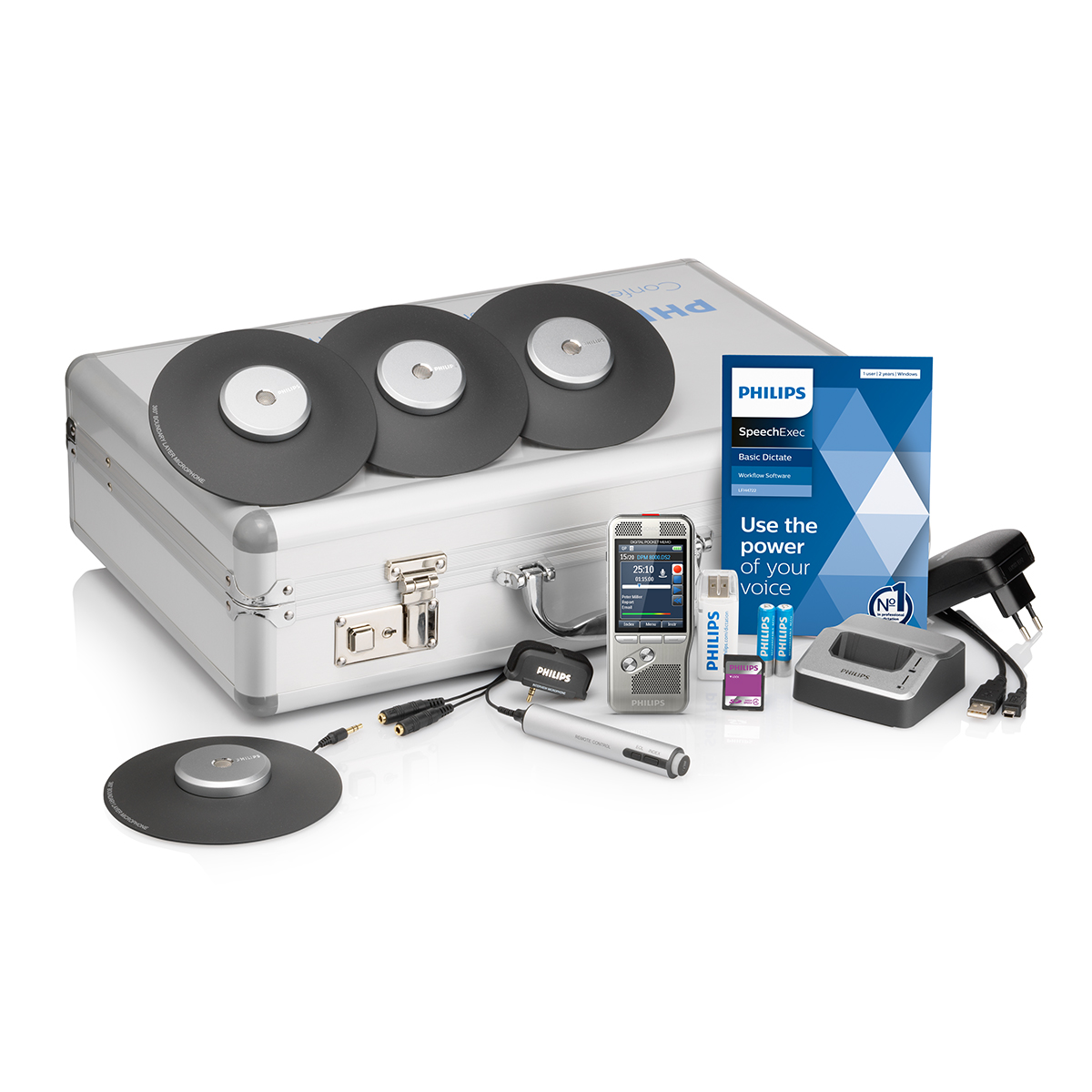 Philips DPM8900 Conference Recording Kit with SpeechExec 11 Dictate