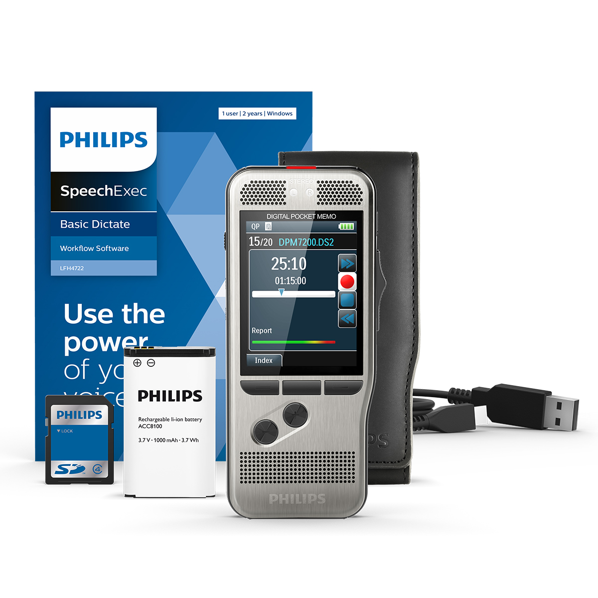 Philips DPM7200 Pocket Memo with SpeechExec Dictate 11