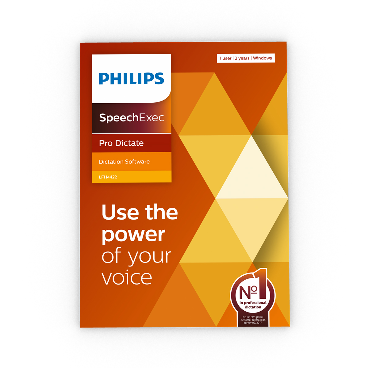 Philips LFH4422 SpeechExec 11 Pro Dictate 2 Year Subscription Boxed