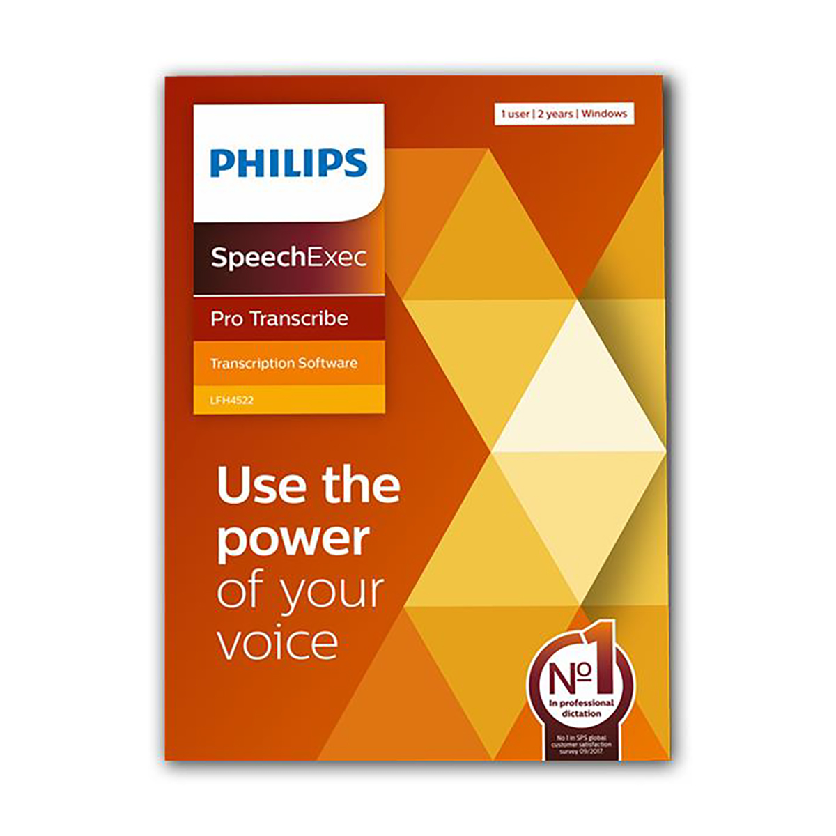 Philips LFH4522 SpeechExec 11 Pro Transcribe 2 Year Subscription Boxed
