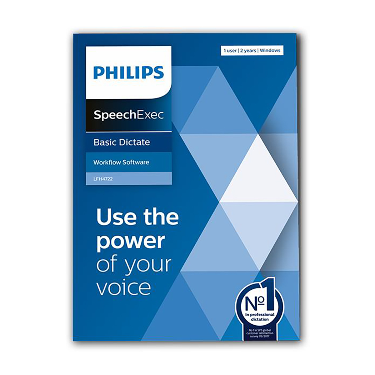 Philips LFH4722 SpeechExec 11 Dictate 2 Year Subscription Boxed