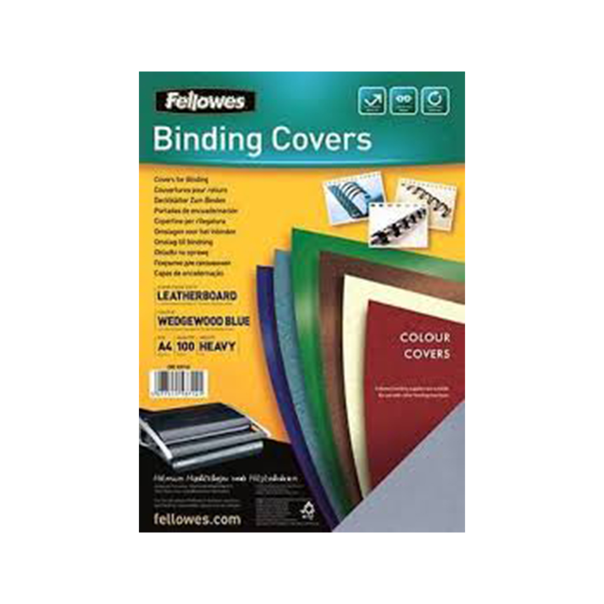 Fellowes 5371401 A4 Leatherboard Covers